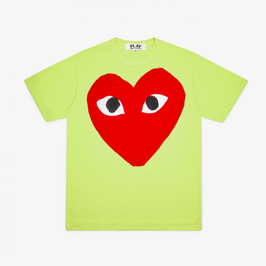 Comme des Garcons Play W Big Red Heart T-Shirt Green