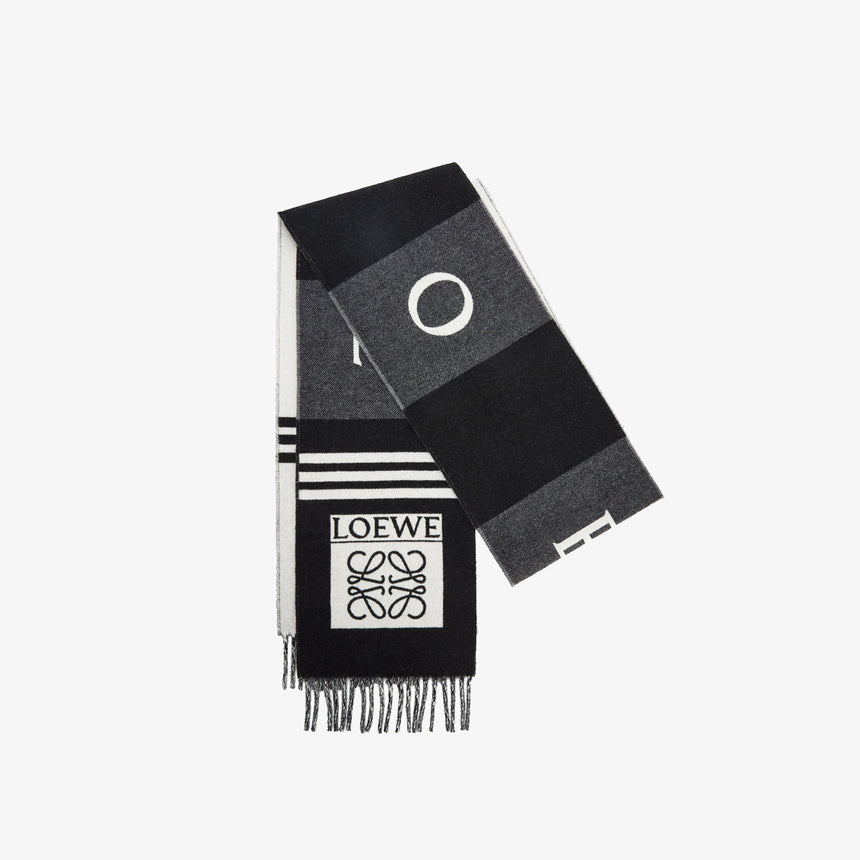 Loewe Football Scarf Black / Grey