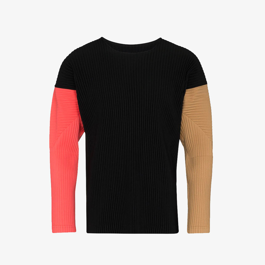 Homme Plissé Issey Miyake Colour-Block Ribbed Jumper