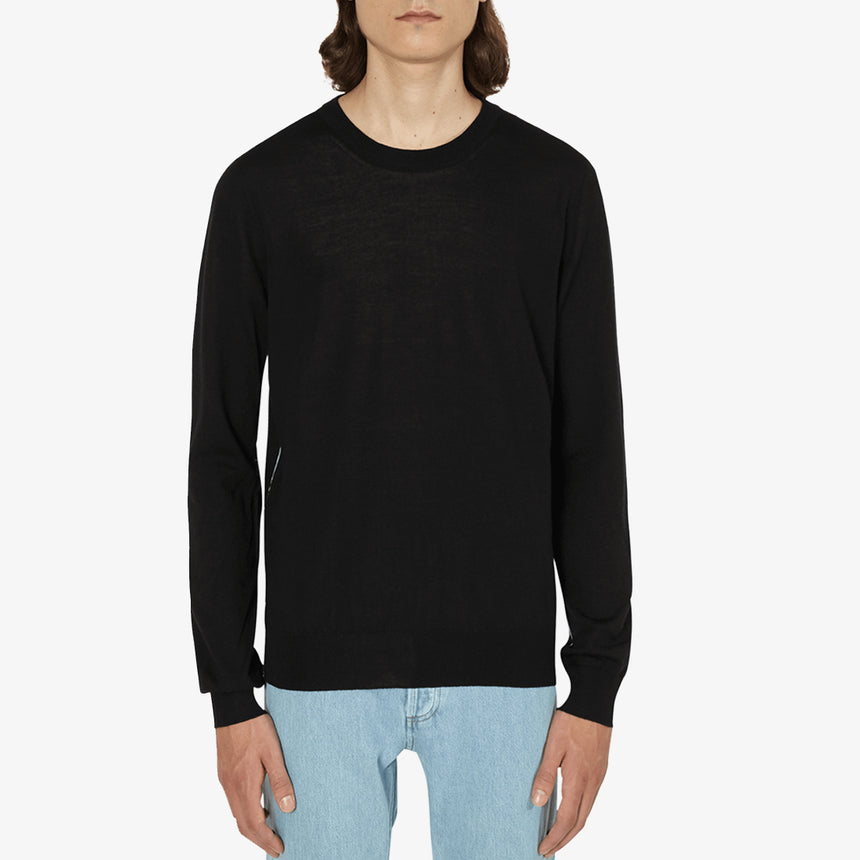 Maison Margiela Piped Crewneck Sweater Black