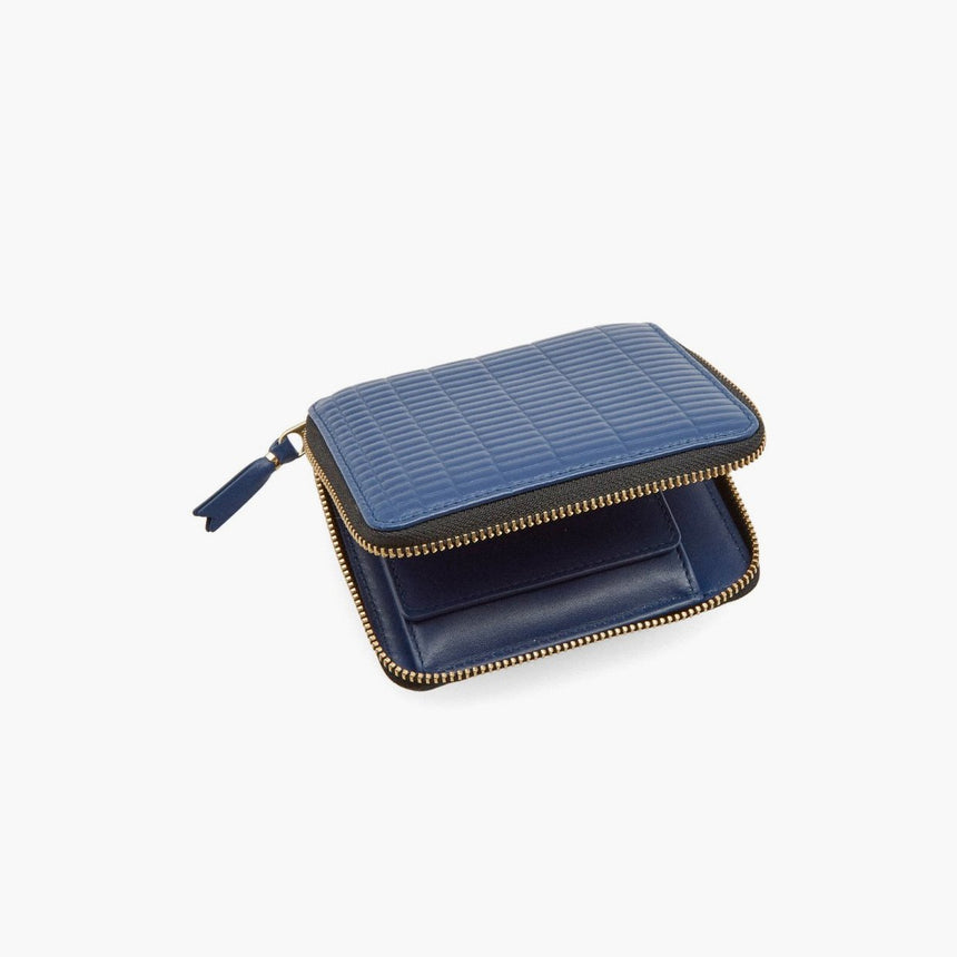 Comme Des Garçons All Around Zip Wallet Blue