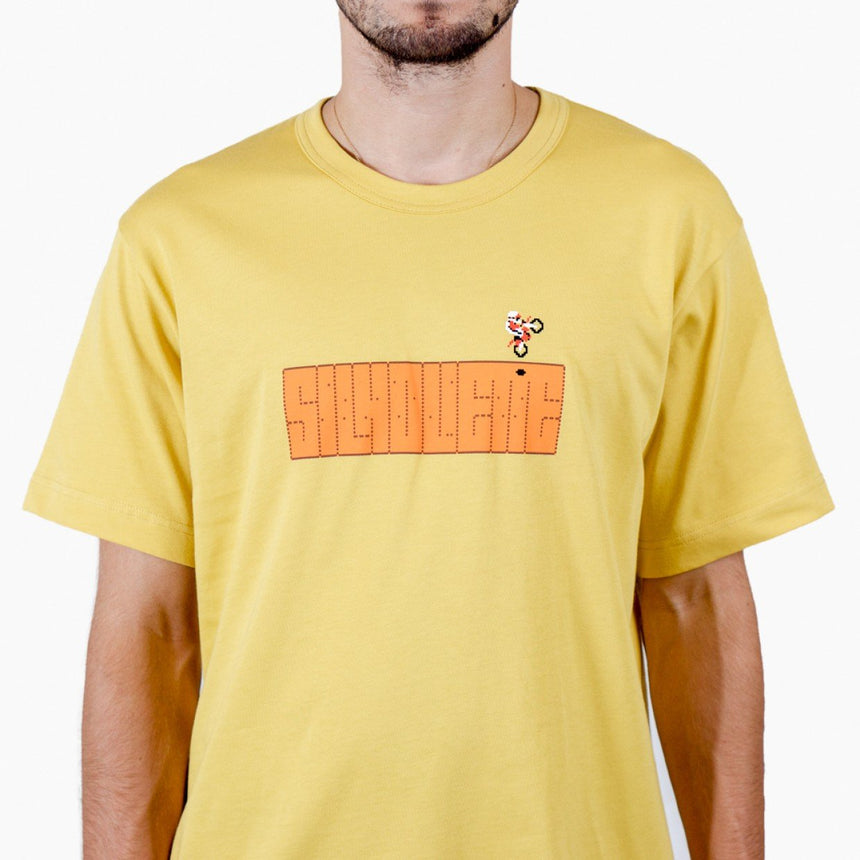 Silhouette Excitebike Logo T-Shirt Road Yellow