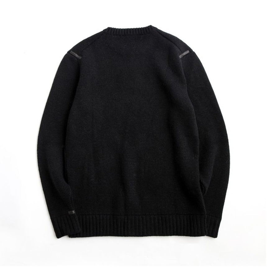 The Inoue Brothers Milano Crew Neck Sweater Black