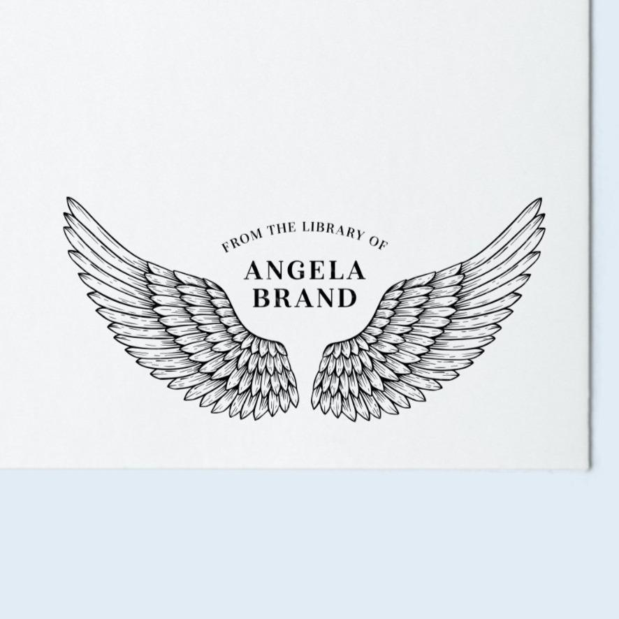 Angel Wings Book Stamp