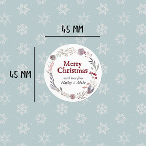 Autumn Wreath | 20 Round Christmas Gift Labels Gift Label Sweet Backflip