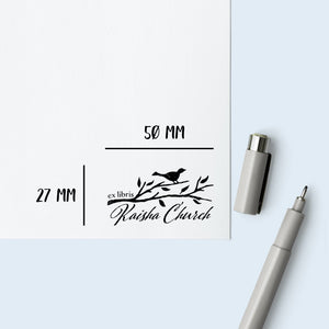 Bird on a Branch Book Stamp Book Stamp Sweet Backflip