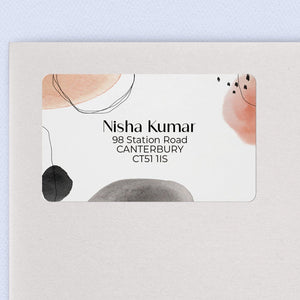 Blush & Black Abstract Return Address Labels Return Address Labels Sweet Backflip
