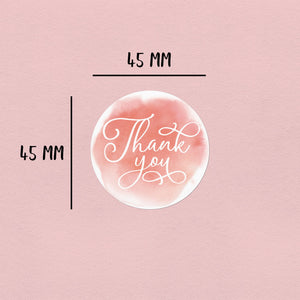 Blush Thank You Sticker | 20 Round Happy Mail Stickers Happy Mail Stickers Sweet Backflip
