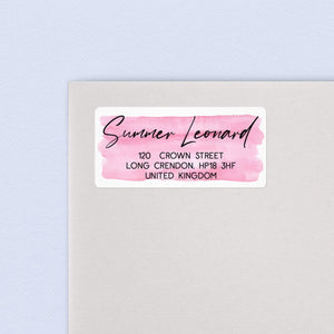 Brush Script Watercolour Return Address Labels Return Address Labels Sweet Backflip