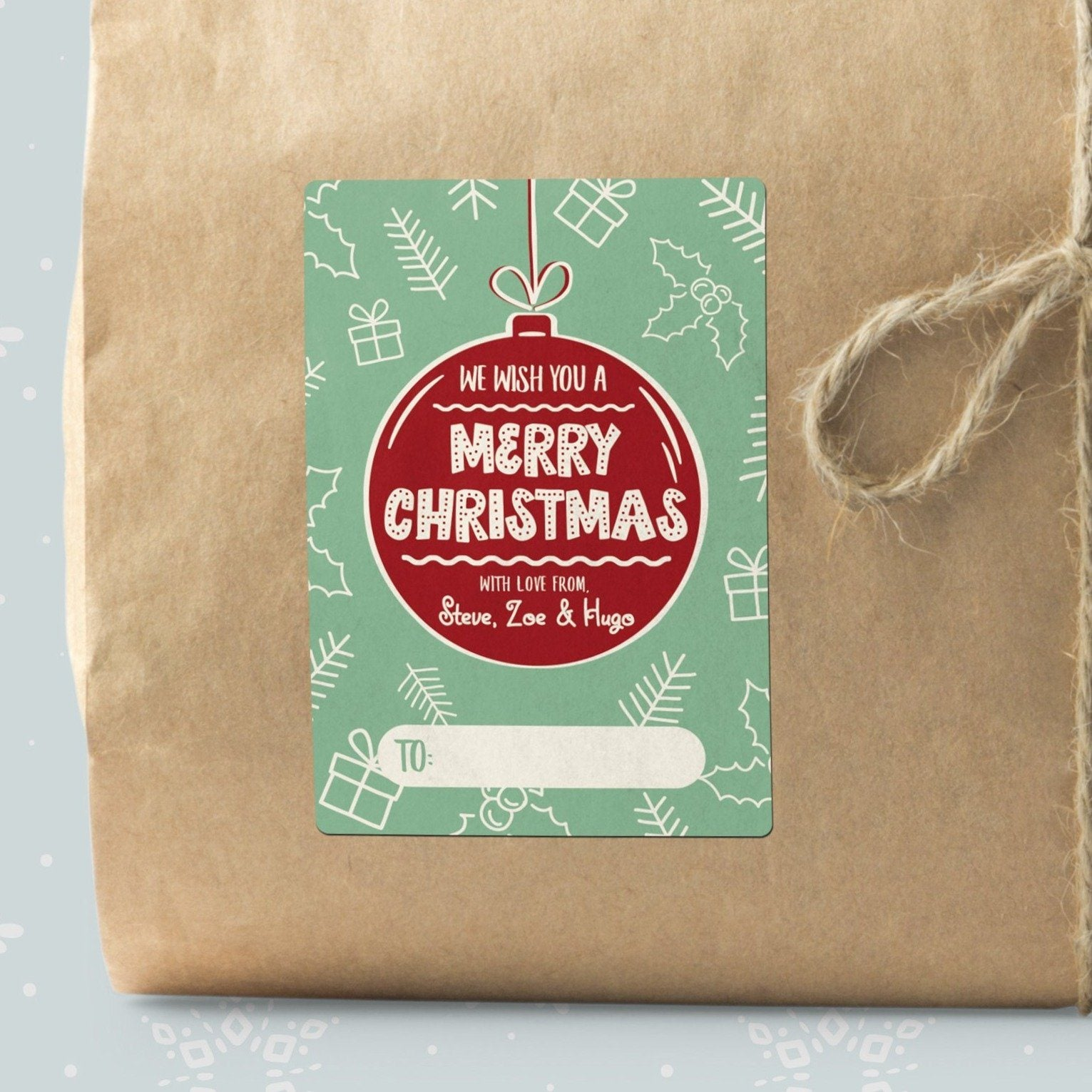 Christmas Bauble Gift Labels