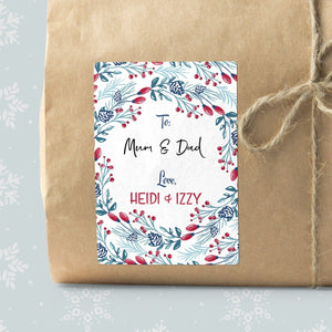 Christmas Botanical Border Gift Labels Gift Label Sweet Backflip
