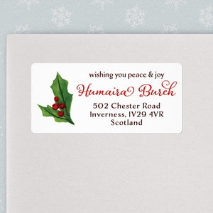 Christmas Holly Address Labels Christmas Address Labels Sweet Backflip
