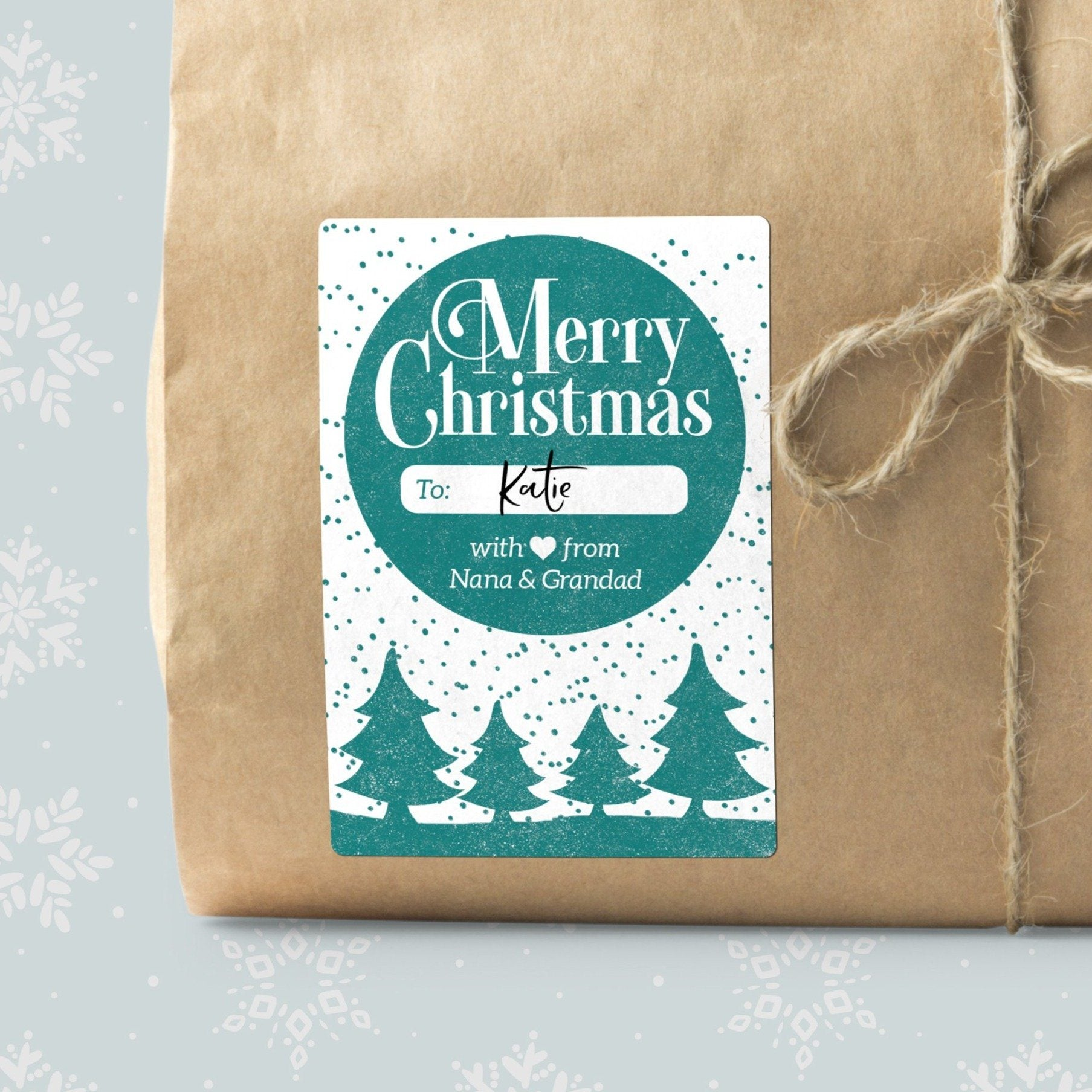 Christmas Tree Silhouette Gift Labels