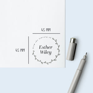 Delicate Wreath Book Stamp