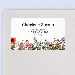 English Garden Address Labels Return Address Labels Sweet Backflip