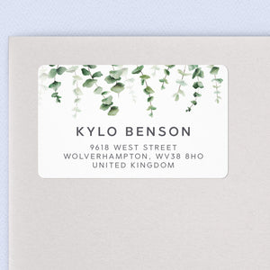 Eucalyptus Return Address Labels Return Address Labels Sweet Backflip