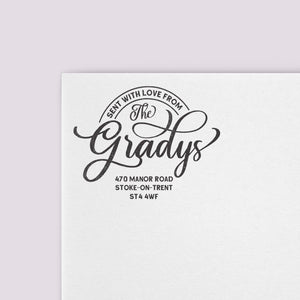Family Logo Address Stamp
