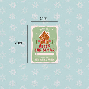 Gingerbread House Christmas  Gift Labels