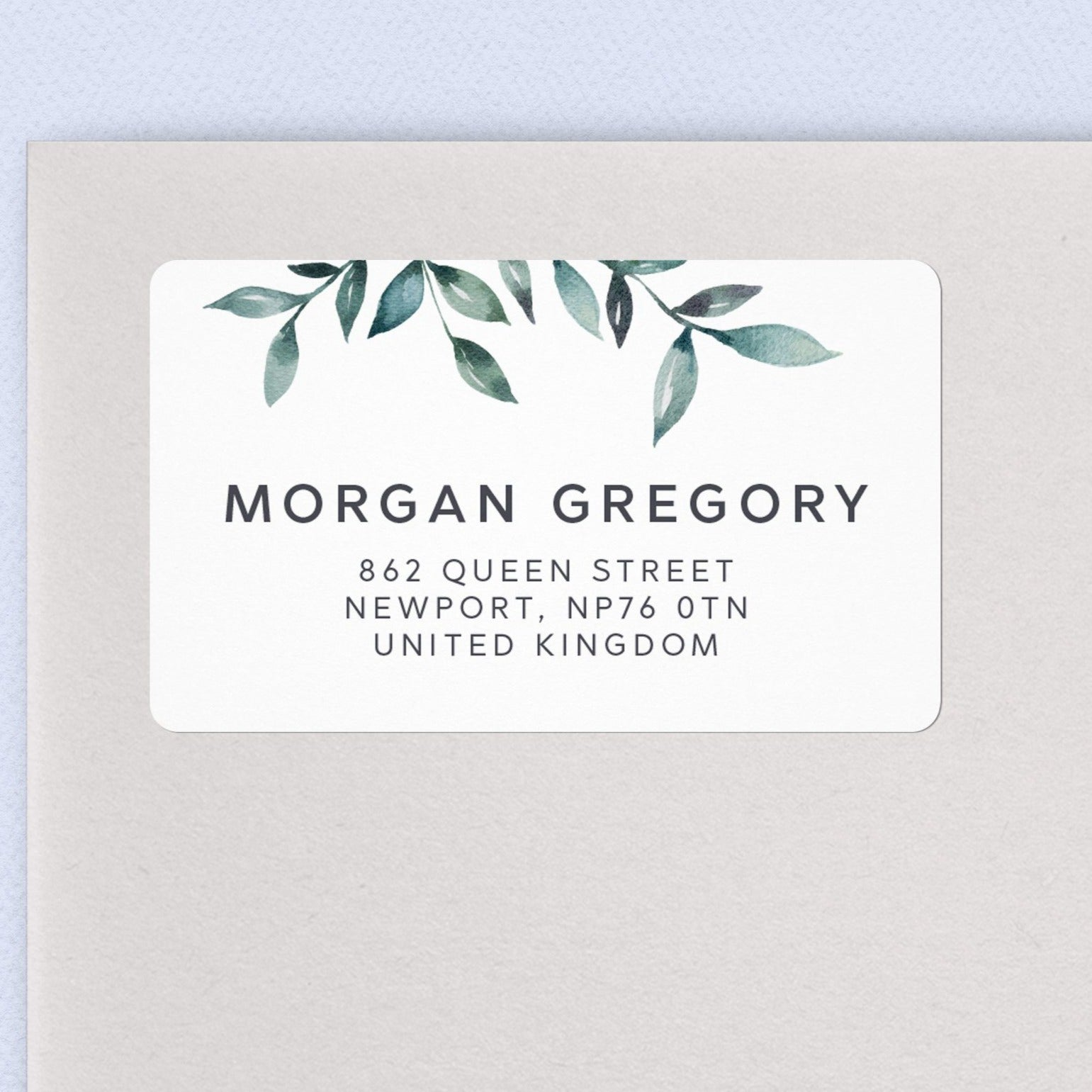 Greenery Address Labels