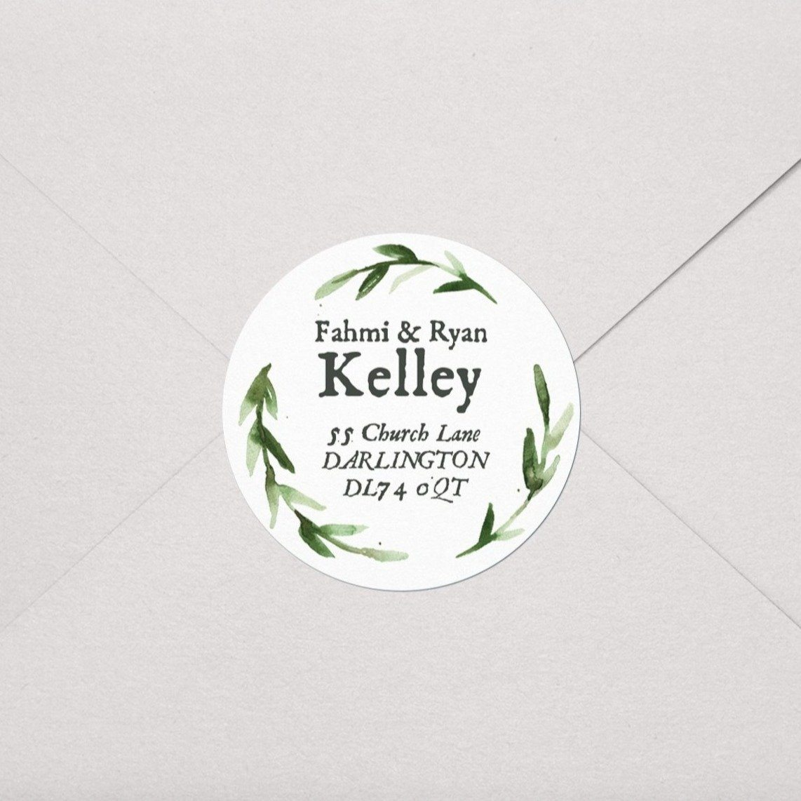 Greenery Wreath Labels