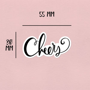 "Hand-Lettered Script ""Cheers"" 