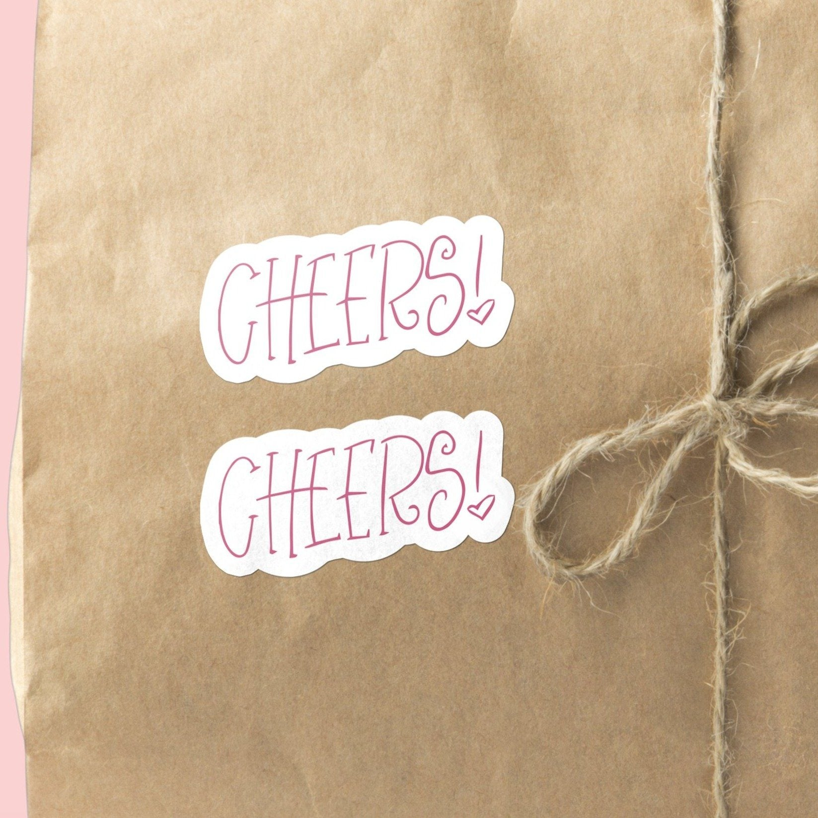 "Hand-Lettered Serif ""Cheers"" 