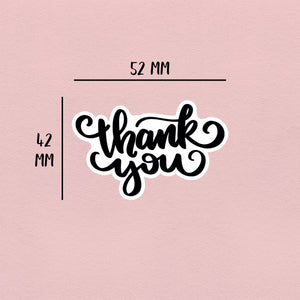 Hand-Lettered Thank You | 21 Die-Cut Happy Mail Stickers Happy Mail Stickers Sweet Backflip