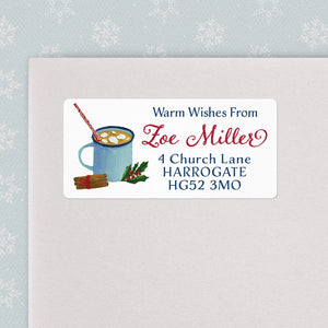 Hot Cocoa Christmas Address Labels Christmas Address Labels Sweet Backflip