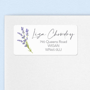 Lavender Sprig Address Labels Return Address Labels Sweet Backflip