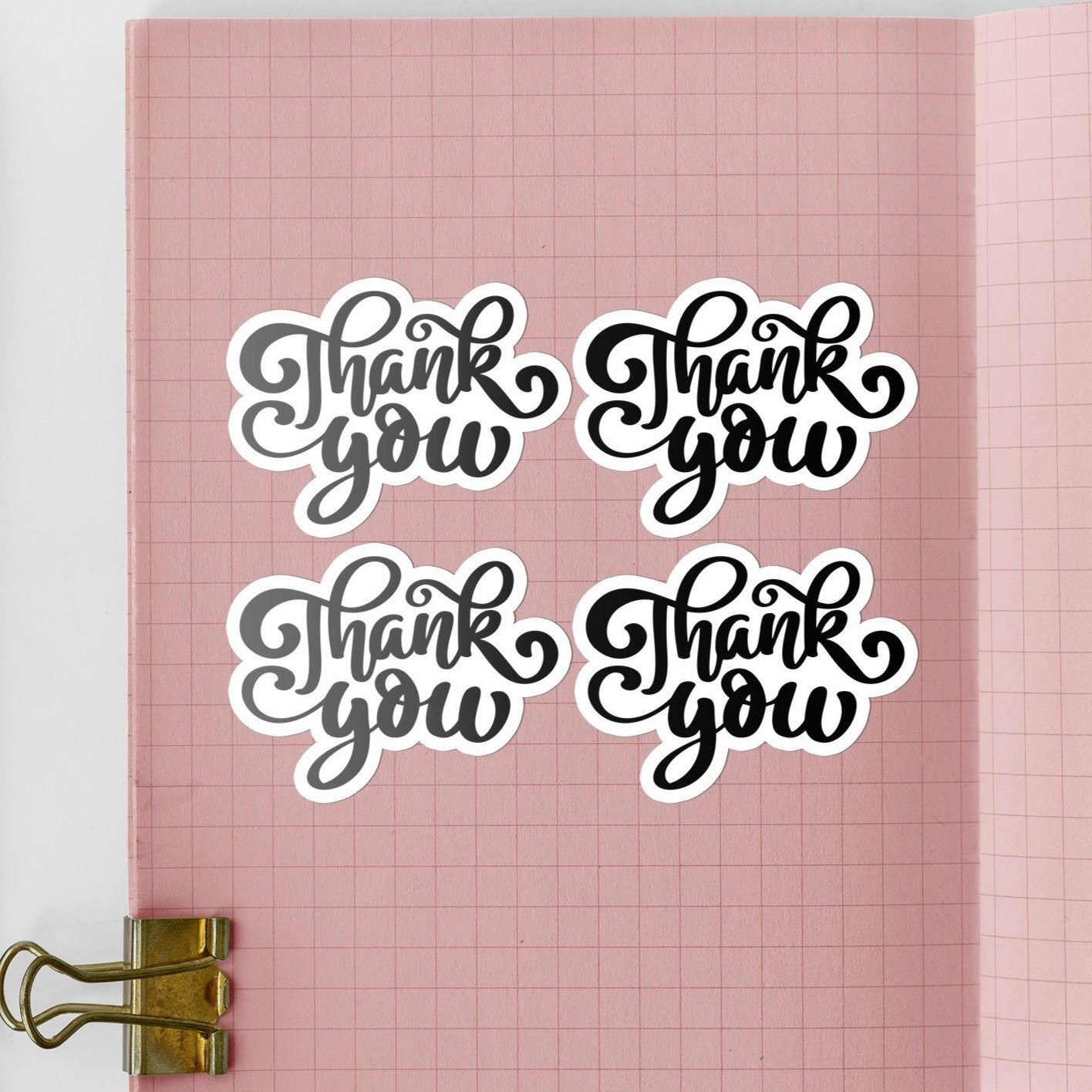 Loopy Thank You | 15 Die-Cut Happy Mail Stickers Happy Mail Stickers Sweet Backflip