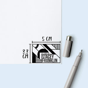 Modern Lines Library Stamp Book Stamp Sweet Backflip