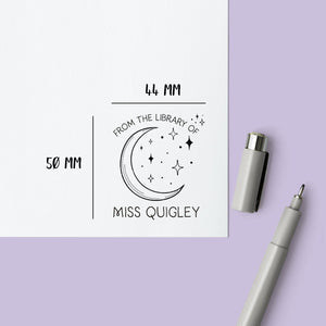 Moon & Stars Book Stamp