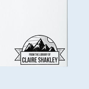 Mountain Banner Book Stamp
