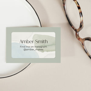 Neutral Blue & Green Watercolour Address Labels Return Address Labels Sweet Backflip