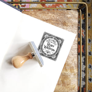Ornate Art Deco Book Stamp Book Stamp Sweet Backflip