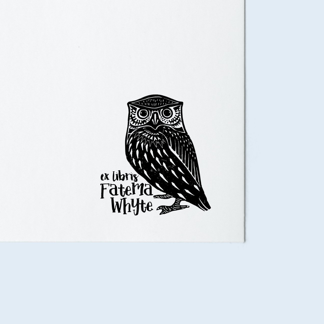 Owl Book Stamp