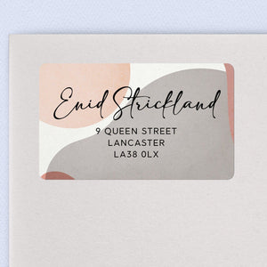 Pink & Grey Abstract Return Address Labels Return Address Labels Sweet Backflip