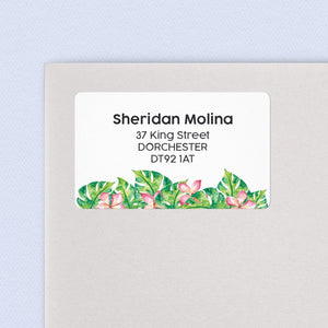 Pink Tropical Address Labels