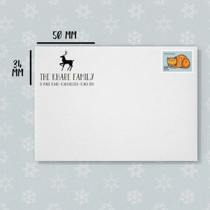 Reindeer Christmas Return Address Stamp