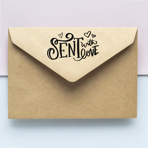 """Sent with Love"" Envelope Stamp Envelope Stamp Sweet Backflip"