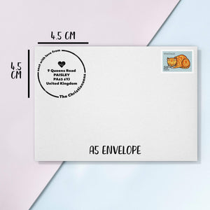 "Simple Circle ""Sent with Love"" Address Stamp Address Stamp Sweet Backflip"