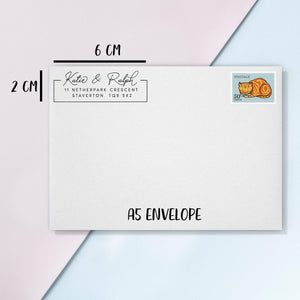 Simple Rectangle Signature Address Stamp Address Stamp Sweet Backflip