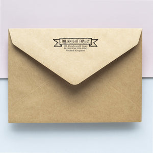 Stitched Banner Address Stamp Address Stamp Sweet Backflip