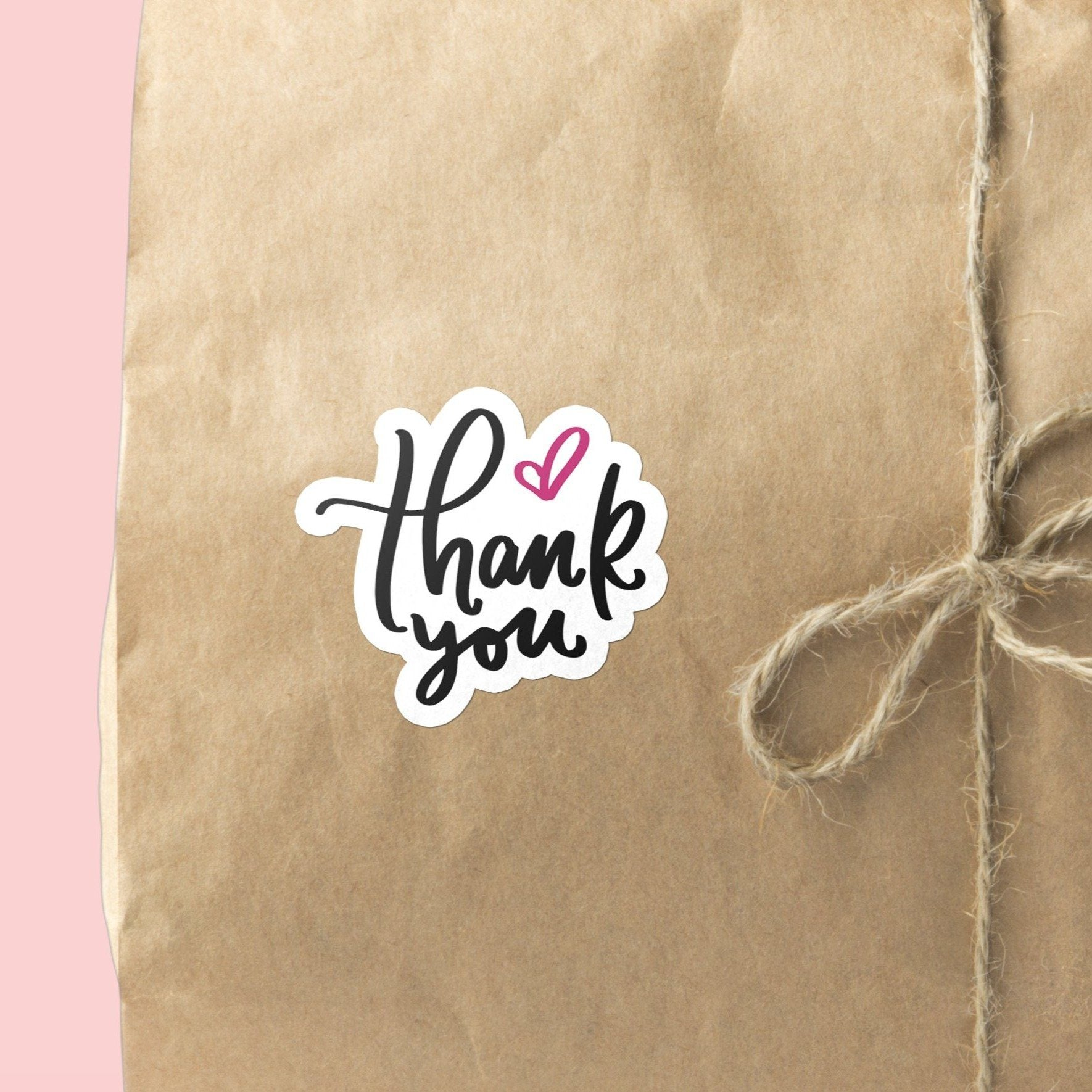 Thank You with Love Heart | 15 Die-Cut Happy Mail Stickers Happy Mail Stickers Sweet Backflip