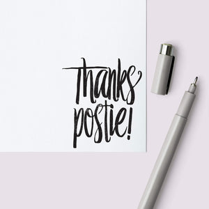 """Thanks Postie"" Envelope Stamp Envelope Stamp Sweet Backflip"
