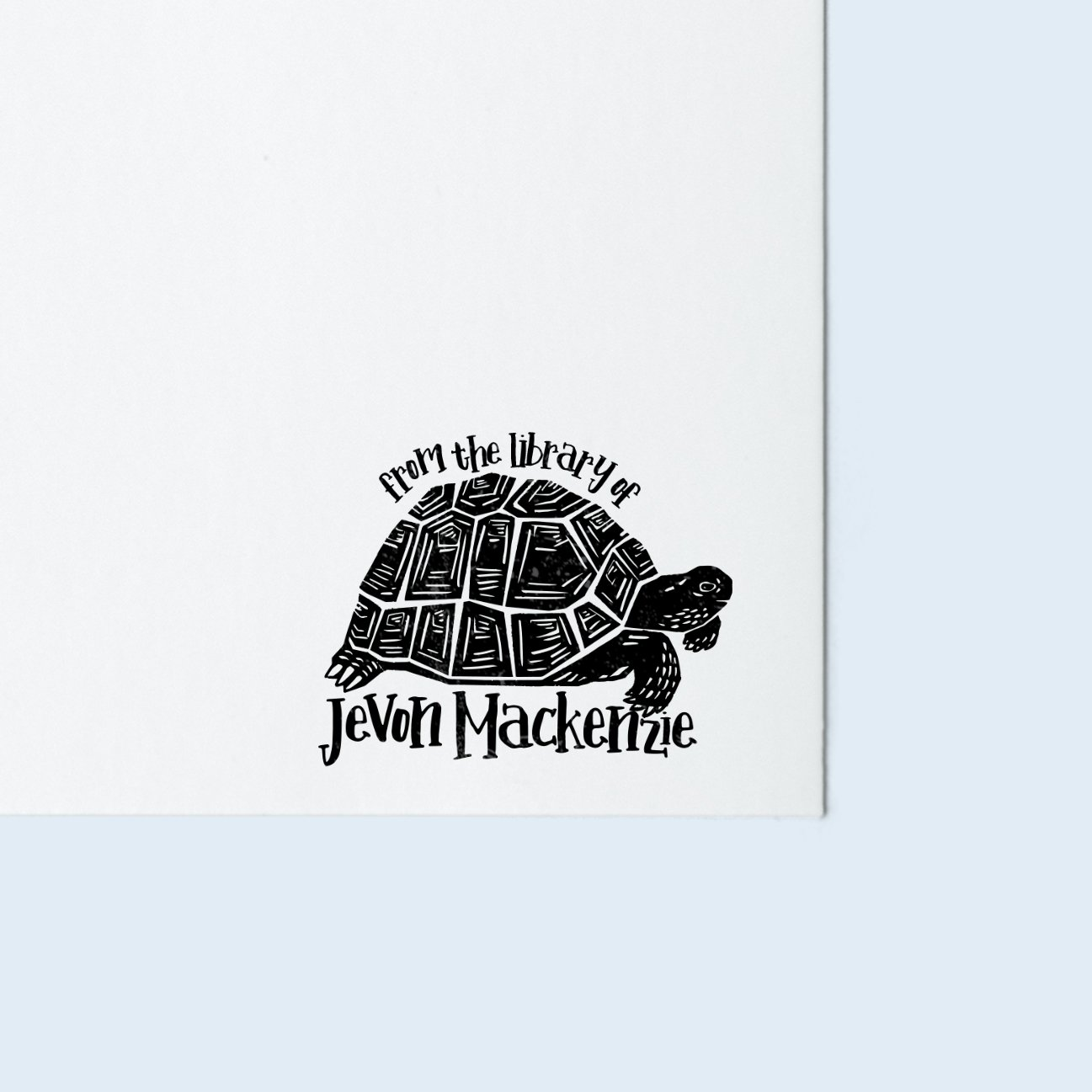 Tortoise Book Stamp