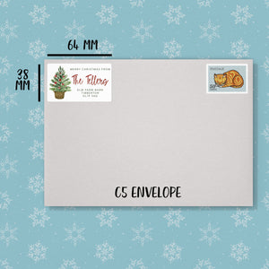 Tree in Basket Christmas Address Labels Return Address Labels Sweet Backflip