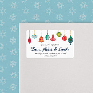 Watercolour Ornaments Address Labels Return Address Labels Sweet Backflip