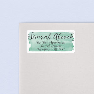 Whimsical Script Watercolour Return Address Labels Return Address Labels Sweet Backflip