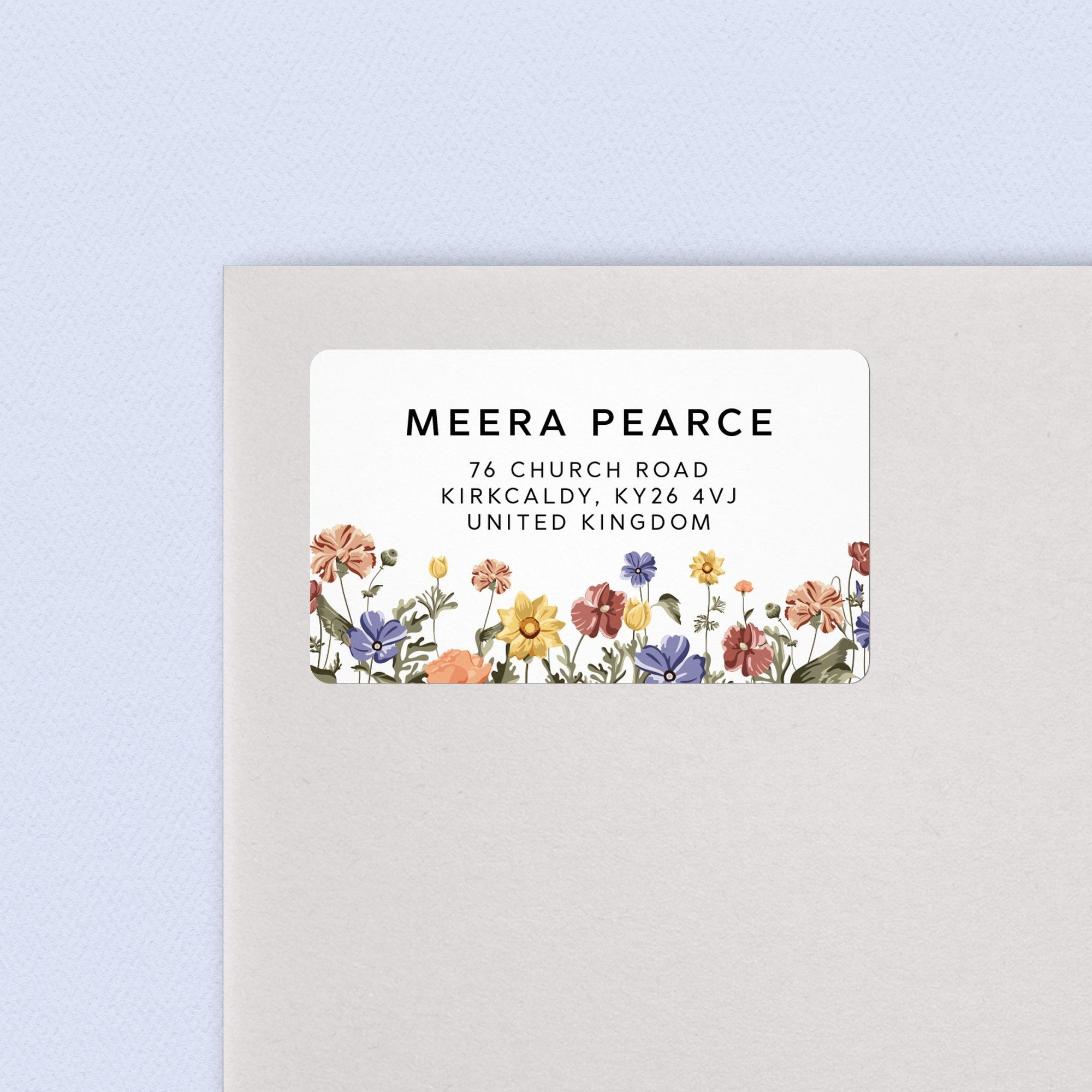Wildflower Address Labels